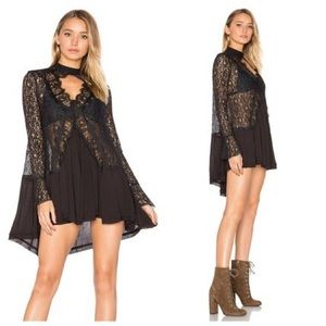NEW! Free People Lace Keyhole Babydoll Dress